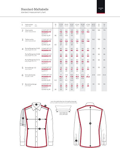 Eterna long sleeve Shirt MODERN FIT Natté structured Verde/Bianco