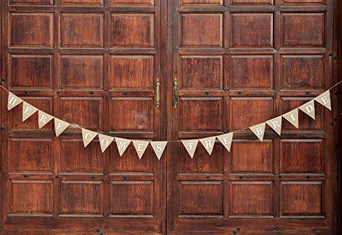 Hier kommt die Braut sign-ring der sign-wedding Décor Jute banner-flower Mädchen Hochzeit-hologrammbanner Hochzeit Verlobungsring Love Décor Wimpelkette (Braut Hier Die Kommt)