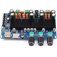 Carte Amplificateur de puissance, carte amplificateur numérique à 2.1canaux Sortie USB TF USB 50W + 50W Sortie Stéréo 100W pour caisson de basses