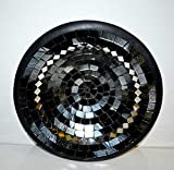 Teller in Mosaiktechnik Dekoteller schwarz/silber 27cm - 5