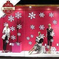 56 Stk Schneeflocken Selbstklebend Fensterschmuck Weihnachten Schneeflocke Weihnachtsdeko Fenstertattoo Wandtattoo Weihnachten Deko Weiss