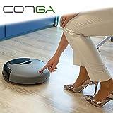 L'originale Conga Compact - Il tuo nuovo robot aspirapolvere intelligente automatico adatto per tutti i tipi di pavimento e tappeti e sensore anticaduta - robot domestico aspira per la pulizia dei pavimenti cleaning mop scopa autonomo automatica lava - fino ad 1 ora di funzionamento