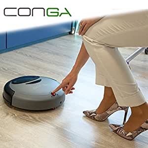 conga compact robot aspirateur intelligent automatique adapt pour tous les types de sol et. Black Bedroom Furniture Sets. Home Design Ideas
