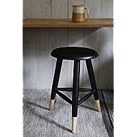 Store Indya, Moderni in legno nero medie Tree-Legged Seduto Sgabello per bar / Contatore / Casa