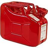 10 Liter Stahlblechkanister GGVS mit Sicherungsstift ROT Benzinkanister Metallkanister 10L