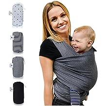 Fascia porta bebè Baby » fastique Kids « (520cm X 55cm) elastico–Fascia Porta Bebè–Panni per precoce e neonati con istruzioni per trasporto–altri
