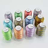 New brothread 12 Multicolore Polyester Fil machine à - Best Reviews Guide
