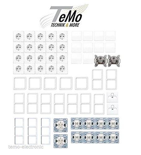 TM: Jung CD 500 alpinweiß Steckdose CD1520WW/Rahmen/Wippen/UP-Einheiten - Paket NEU Cd500 Cd