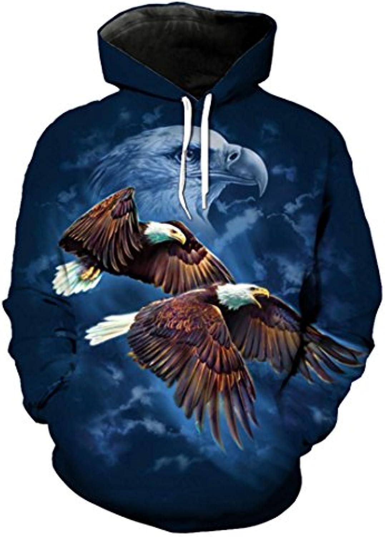 Toensishs Felpa con con Cappuccio Blu con Felpa Stampa Eagle Pullover  Sportwear 8b7ed3 8c65c3a168f