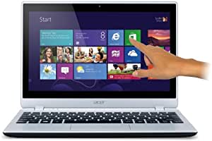 Acer Aspire V5-122P 29,4 cm (11,6 Zoll) Mini-Book (Touchscreen, IPS Display, Backlight Keyboard, Quad-Core Prozessor, 4GB RAM, 500 GB HDD, Radeon HD8210, Win8) Silber