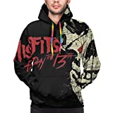 UOSIQZDF Coole Hoodies Black Men's Hoodie Sexy 3XL The Misfits Pullover Hoodie
