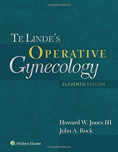 Te Linde's Operative Gynecology by Howard W Jones III MD (2015-07-20)