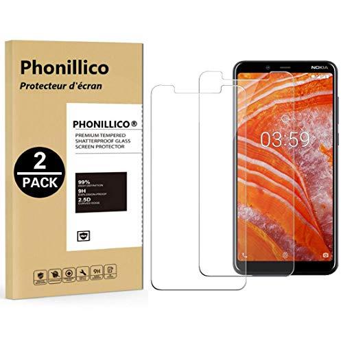 PHONILLICO [Pack de 2] Verre Trempe Nokia 3.1 Plus - Film Protection Ecran Verre Trempe [Lot de 2] Vitre Ecran Protecteur Anti Rayure sans Bulle d'Air Dureté 9H Ultra Mince Transparent