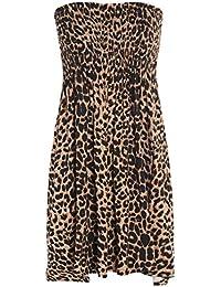 Vestido de palabra de honor elástico, para mujer, tallas 36-52