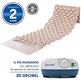 AIESI® Materasso Antidecubito a bolle d'aria con compressore regolabile a ciclo alternato DOCTOR MATTRESS # 130 Celle…