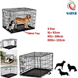 G4RCE® Heavy Duty Metal Dog Cat Puppy Pet Cage With Metal Tray 36