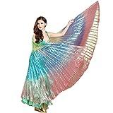 Mamum Drei Farbtanz Flügel, die Flügel Eines Bauchtanz-Kostüm Ägypten Bauch Zubehör Tanzen Ohne Stöcke One Size Mehrfarben