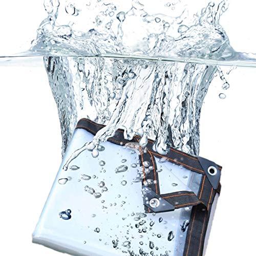 XIGG Abdeckplane Wasserdicht, Transparente Plane LKW, Regenfest Wasserdicht Winddicht Staubdicht UV Beständig Reißfeste Wärmeisolierung,4mX4m/13x13ft