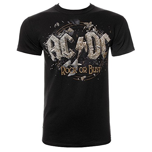 AC/DC Rock Or Bust T Shirt (Nero) - Large