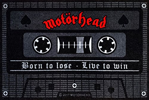 –Felpudo (60x 40cm, antideslizante, diseño a elegir, (con pequeño regalo gratuito), poliamida, Motörhead - Tape, 40 x 60cm