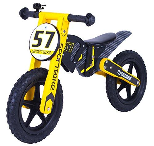 Kinder Laufrad Woody Sport Bike 12 Zoll Holz Lern Fahrrad Lauflernrad Woodinis-Spielplatz&reg