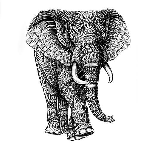Gott Wasserdicht Temporäre Tattoo Aufkleber Hochwertige Mechanische Elefant Gefälschte Tattoo Ärmel Henna Tatoo AAS-001 ()