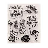 Mentin Ananas DIY Silicone Tampon Scrapbooking Transparent Coller Scrapbook Scrapbook Gaufrage Album Décor