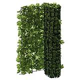 Balkon-Sichtschutz Efeu - Zuschneidbar - Grün - 3 x 1 m