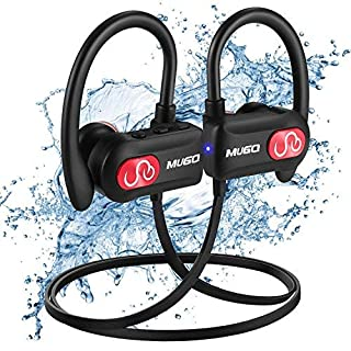Ecouteur Bluetooth, IPX7 Étanche Ecouteurs Bluetooth HiFi Stéréo Casque Bluetooth Sport avec Microphone Anti-Bruit Léger Écouteurs sans Fil Intra Auriculaire pour Course/Gym/Jogging