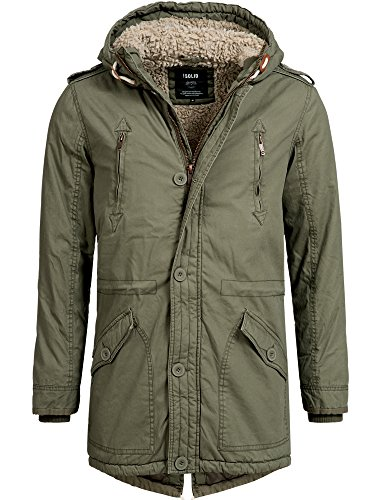 Solid Wind (!SOLID Herren Tejs warm gefütterter Parka mit Fellkapuze Winter Mantel Jacke Winterjacke Wintermantel 3797 IVY GREEN XL)