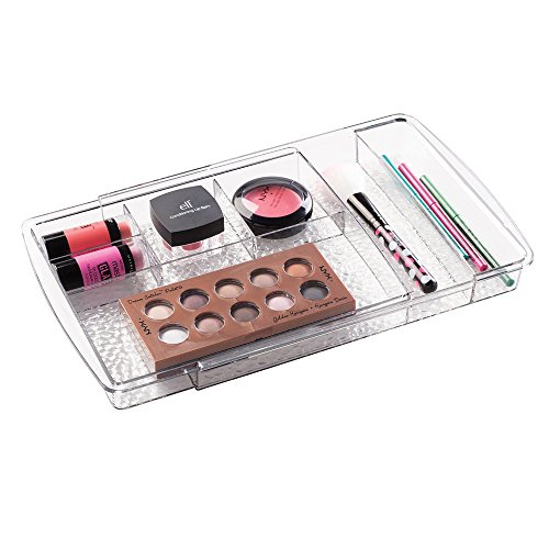 mDesign Organizzatore Espandibile Cassetto dei Cosmetici da