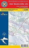 Dinara West 1:25.000 Wanderkarte (Kroatien)