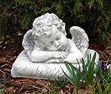 Engel schlafend (S101157) Junge Putte Kinder Gartenfigur Grabengel Statuen Steinguss 25 cm