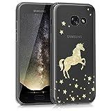 kwmobile Samsung Galaxy A3 (2017) Hülle - Handyhülle für Samsung Galaxy A3 (2017) - Handy Case in Gold Transparent