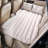 Camping coche funda para cojín aire inflación de viaje cama colchón asiento trasero extendida sofá para SUVs y automóviles y camiones, pvc, beige, without baffle