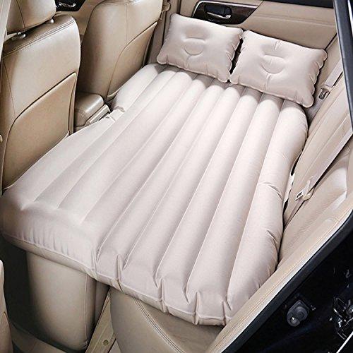 Camping Auto Mobile Kissen Luft-Bett Inflation Matratze Rücksitz Verlängerte Couch für SUVs und Limousinen und Trucks, PVC, beige, without baffle