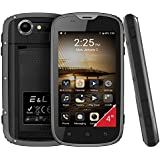 Mobile Phone Android 6.0 Telefonos Moviles Todoterreno Rugged Smartphone E&L W5 IP68 Resistente Impermeable 4 Pulgadas Dual SIM Gris