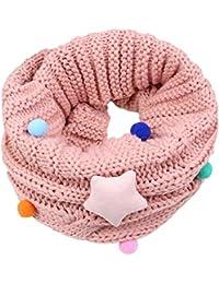 Bufandas Bebé Amlaiworld Niños niñas linda bufanda Otoño invierno algodón O cuello anillo bufandas