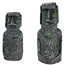 Denpetec - Figura decorativa para acuario, diseño de la antigua isla de Pascua, 2