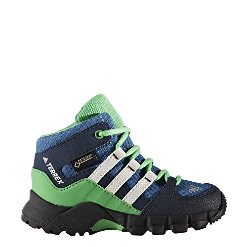 adidas Terrex Mid GTX Baby - core blue/chalk white/energy green
