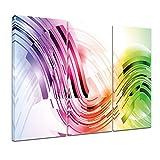 Bilderdepot24 Kunstdruck - Abstrakte Kunst XXXII - Bild auf Leinwand - 120x80 cm dreiteilig - Leinwandbilder - Bilder als Leinwanddruck - Wandbild