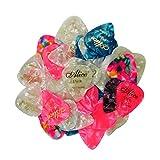 Alice Lot de 6 médiators en celluloïd Épaisseur Assortiment de couleurs mixtes avec boîte Doré Character Lot de 100