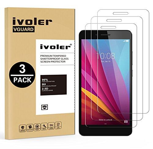 Foto iVoler [3 Pack] Pellicola Vetro Temperato per Huawei Honor 5X [Garanzia a Vita], Pellicola Protettiva, Protezione per Schermo