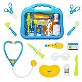 yoptote Arztkoffer Zubehör Arzt Pretend Play Kinder Rollenspiele Kindergeburtstag Spielzeug Set Für Junge Mädchen 3 Jahre und älter (Mehrweg)