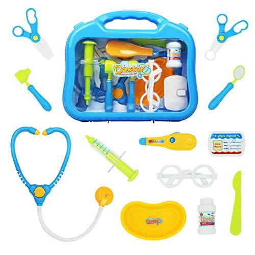 yoptote Arztkoffer Zubehör Arzt Pretend Play Kinder Rollenspiele Kindergeburtstag Spielzeug Set Für Junge Mädchen 3 Jahre und älter (Mehrweg) (Mädchen Spielzeug Alter 3)