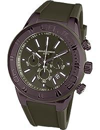 Jacques Lemans Herren Armbanduhr Chronograph Quarz Silikon 1-1820I