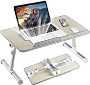 Laptop Stand for Bed, Portable Laptop Table with Foldable Legs Notebook Computer Desk for Laptop Reading and W