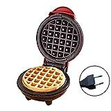 waysad Macchina per Waffle per Uso Domestico 350W, Mini Macchina per Waffle Portatile a Basso consumo Elettrico Macchina per Grill per Torta elettrica per Biscotti e Snack Applied Way