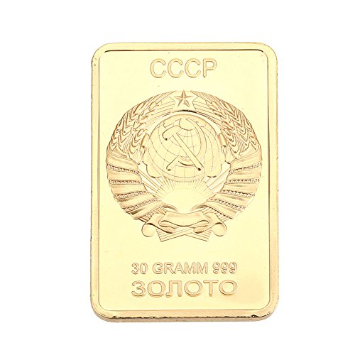 Rosepoem Andenken-Münze Sovietunion 24K vergoldet Geschenk Kunstsammler Dekoration -