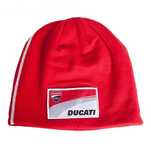 Ducati - 2018 Corse MotoGP Beanie Mütze mit Italienischer Flagge Design für Erwachsene Einheitsgröße -